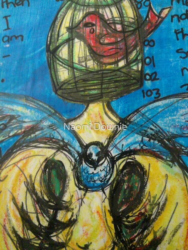 caged bird ache for freedom by Naomi Downie