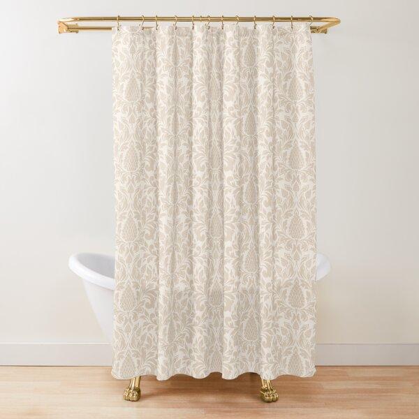 Damask Linen Shower Curtain