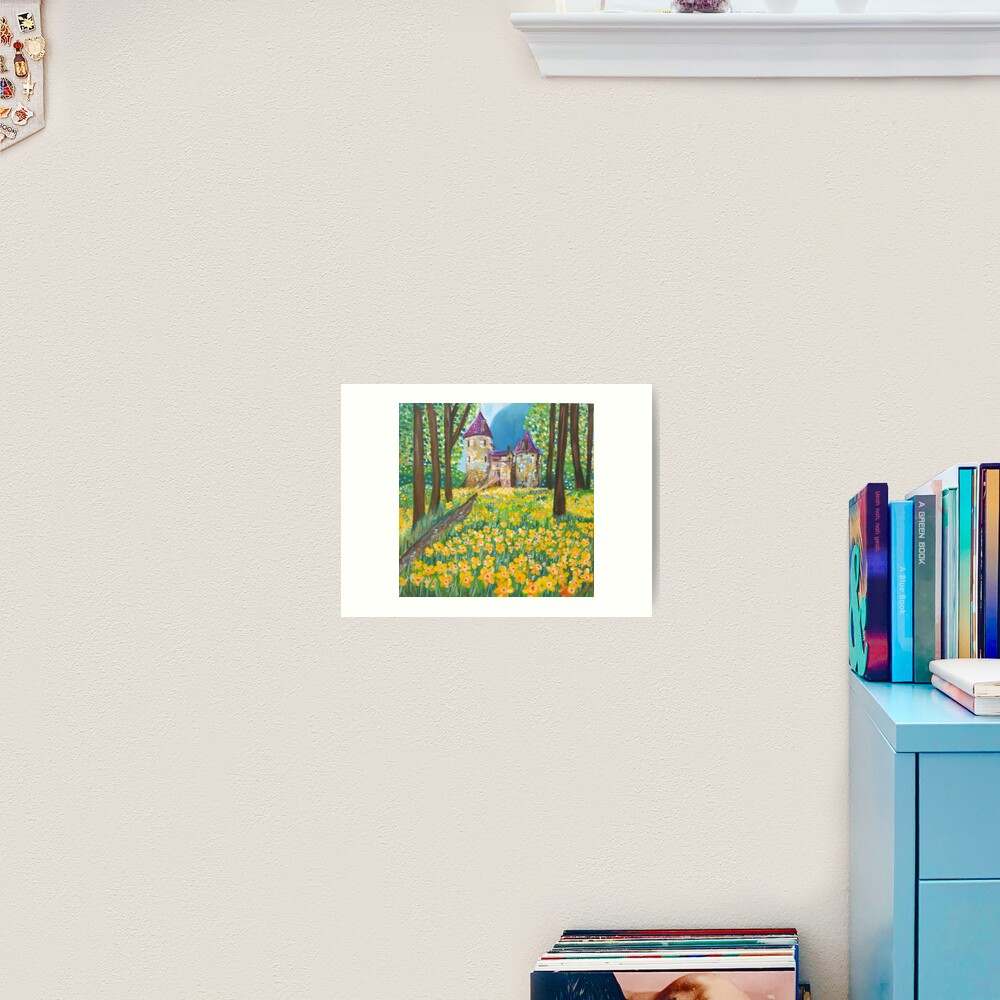 Castell Coch in the Spring Art Print