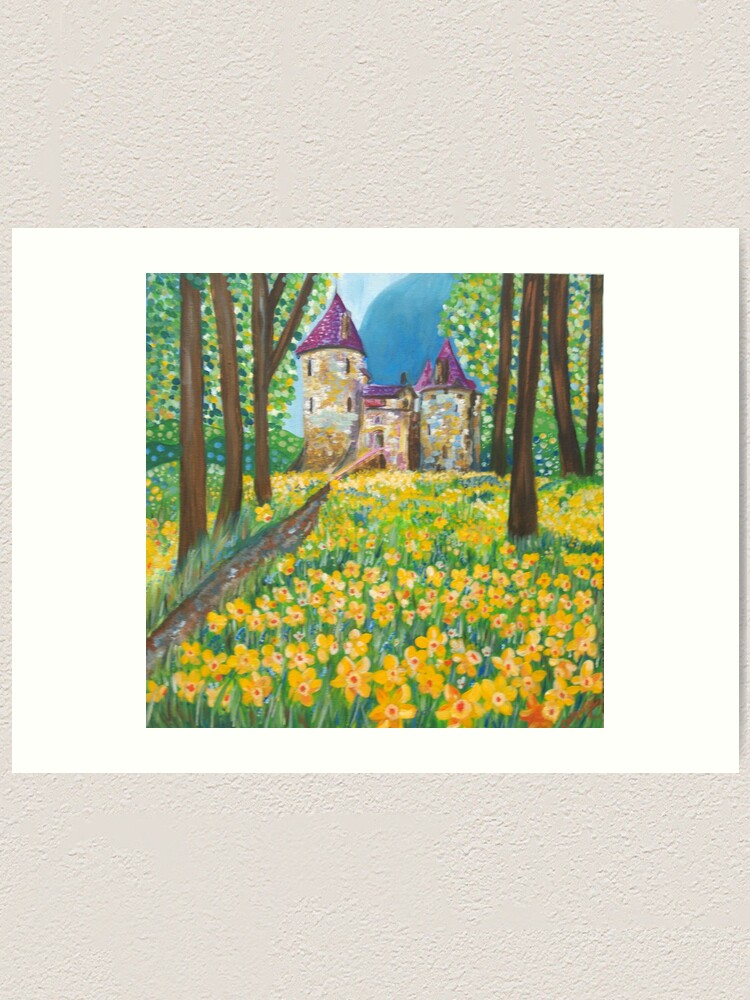 Alternate view of Castell Coch in the Spring Art Print