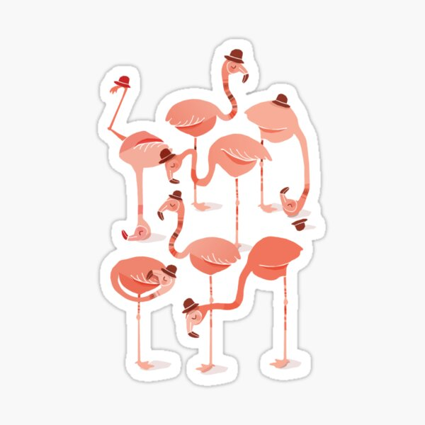 Flamingo's Sticker
