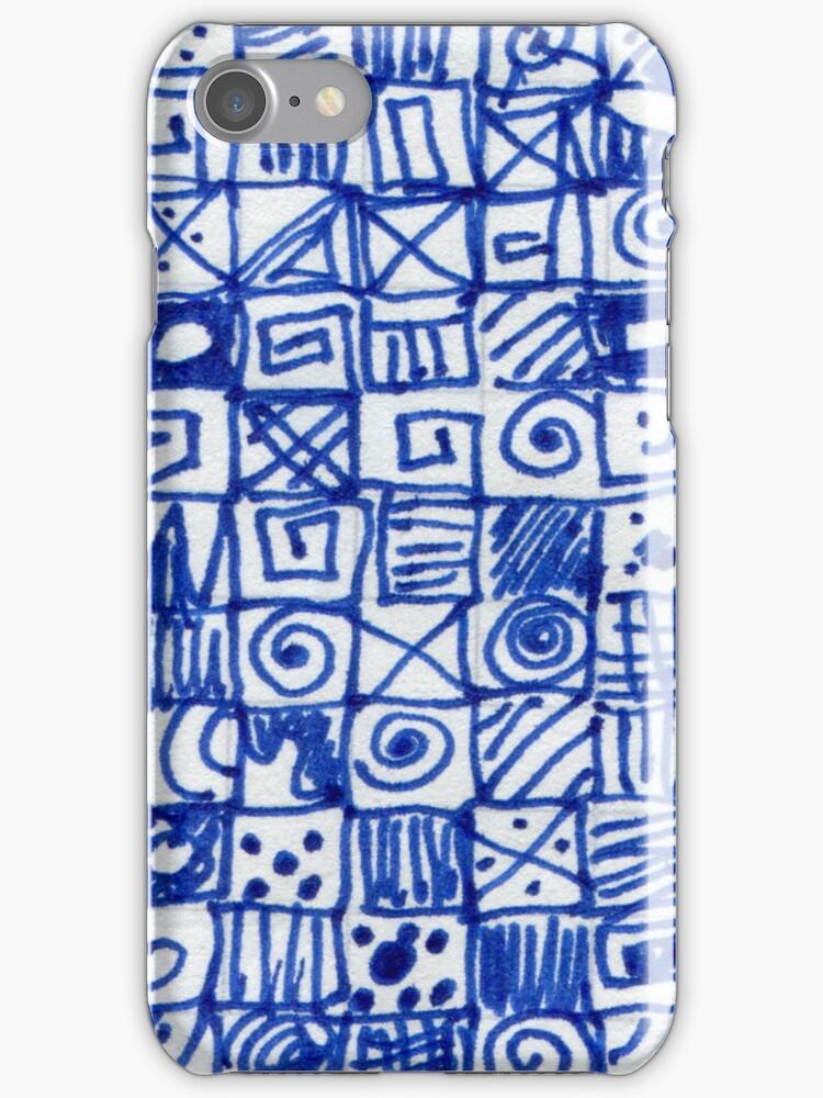 Doodlephone iPhone Case by Betty Mackey