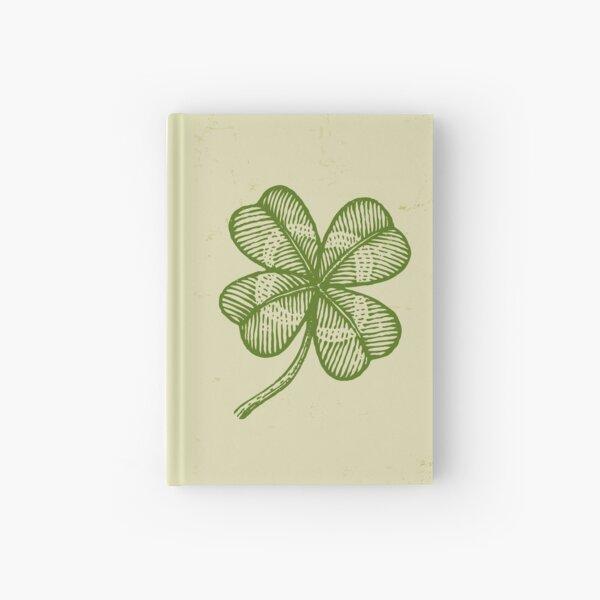 Vintage lucky clover Hardcover Journal