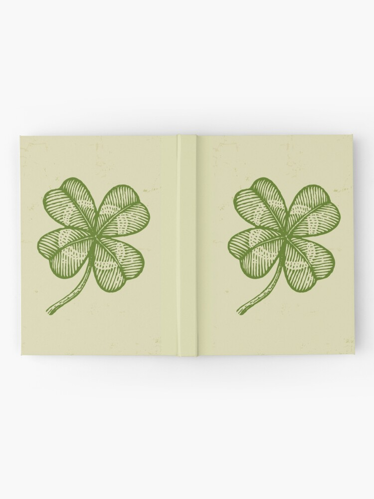 Alternate view of Vintage lucky clover Hardcover Journal