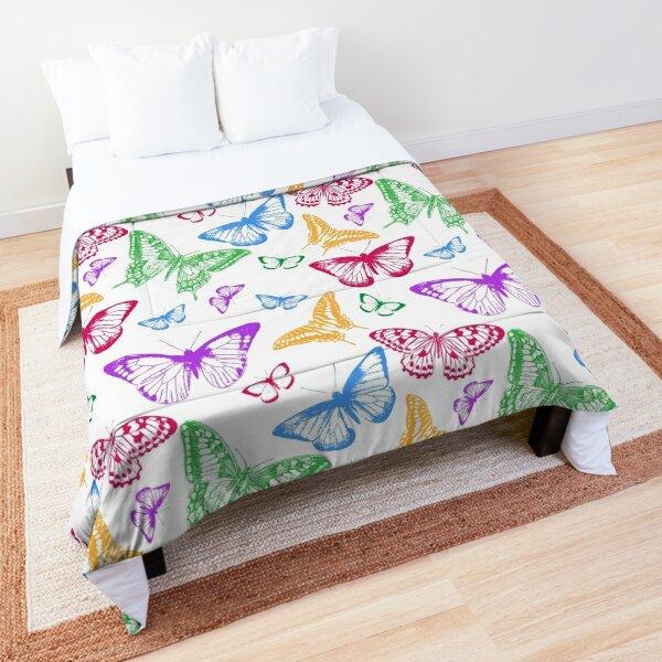 Colorful Butterflies Comforter
