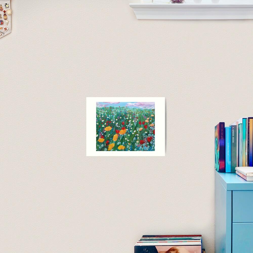 Meadow of love Art Print