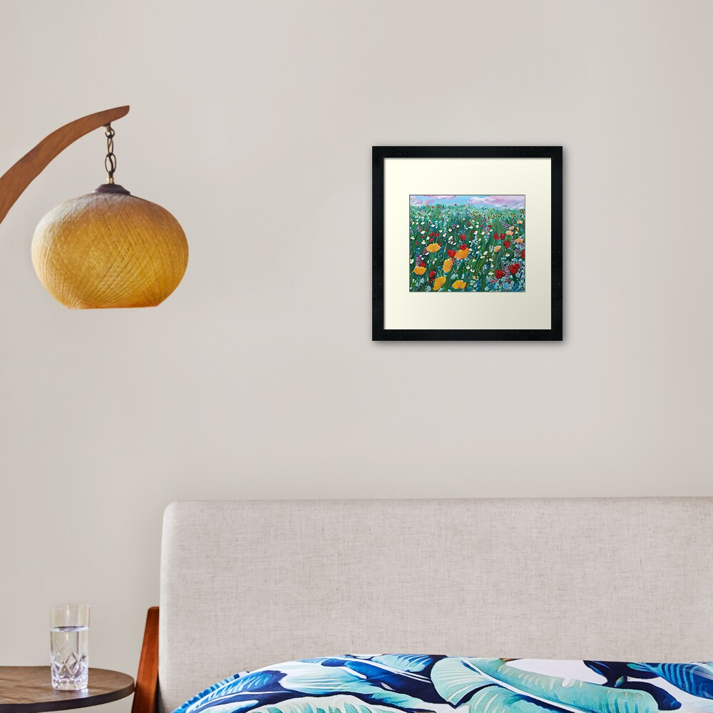 Meadow of love Framed Art Print