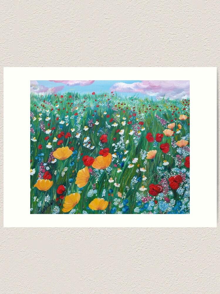 Alternate view of Meadow of love Art Print