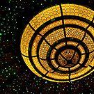 Overhead Light Fixture on Cruise Ship by Gerda Grice