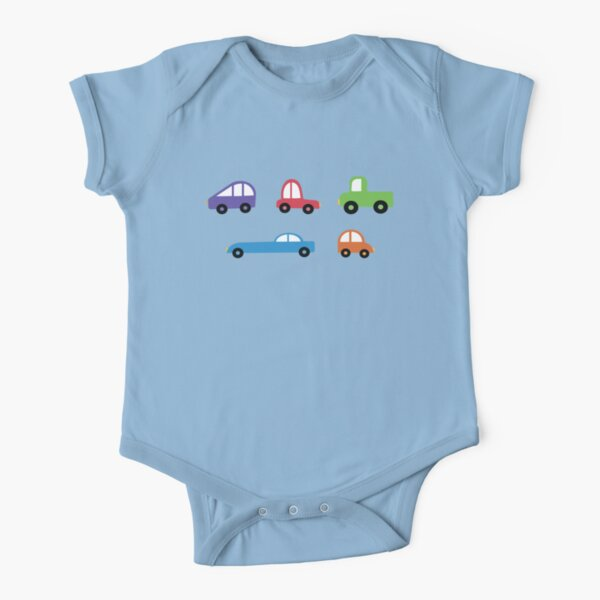 tiny cars Short Sleeve Baby One-Piece