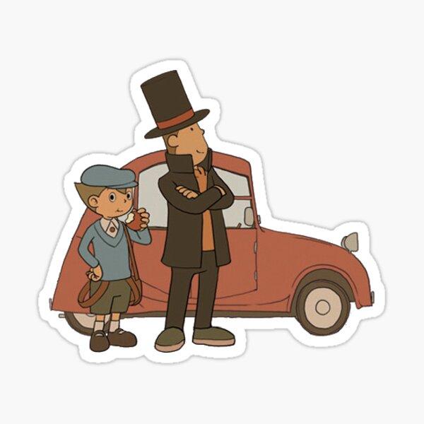 Layton, Luke y el Laytonmobile Pegatina