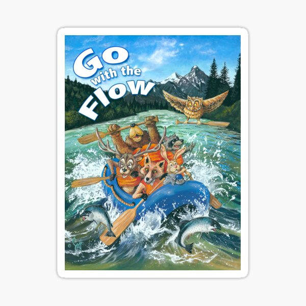 Go with the Flow Sticker