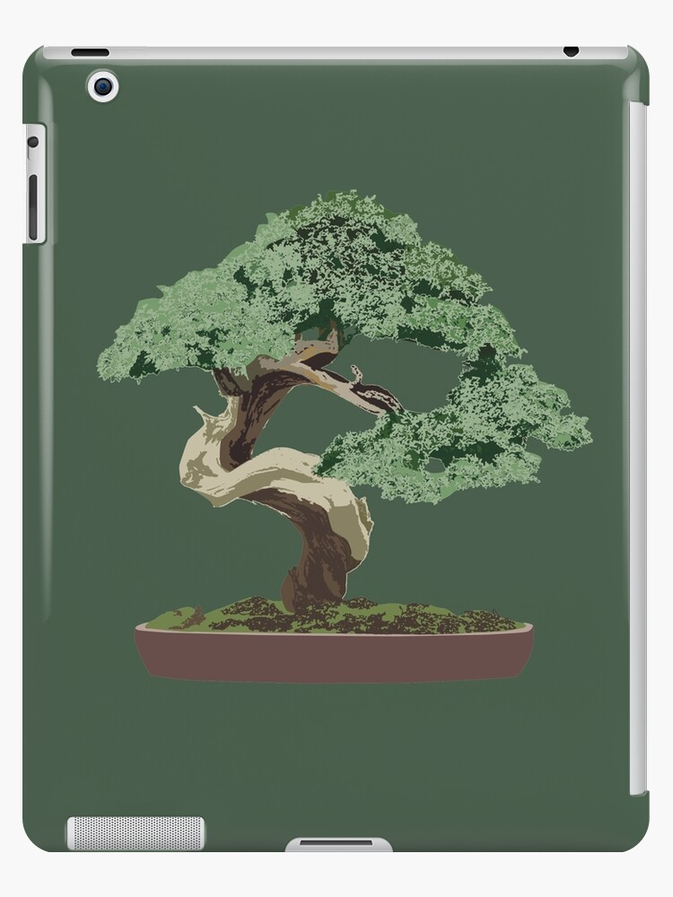 Twisted Bonsai Minimalist Tree Design Ipad Case Skin By Moderndaymystic Redbubble