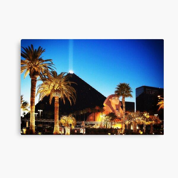 Luxor Pyramid And Sphinx Of Giza, Las Vegas Canvas Print