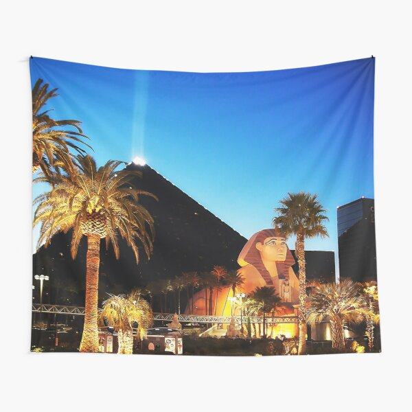 Luxor Pyramid And Sphinx Of Giza, Las Vegas Tapestry