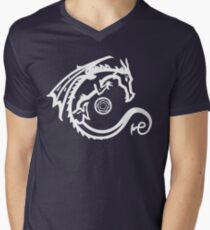Dragon and Stone (for dark t-shirts) Men's V-Neck T-Shirt
