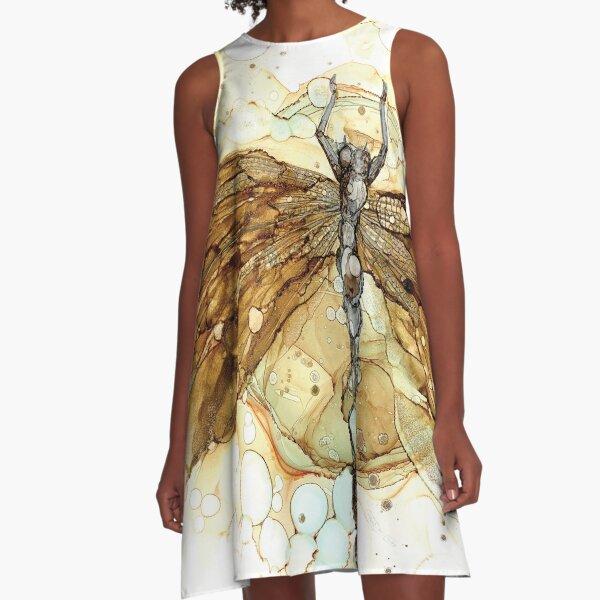Fall Dragonfly A-Line Dress