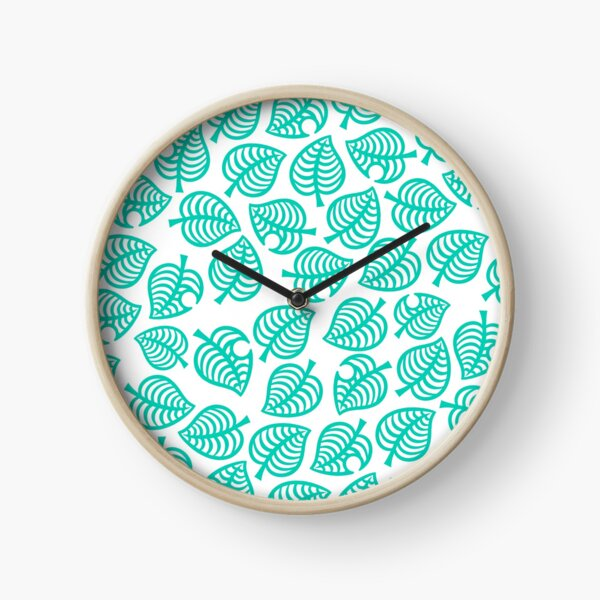 Nook Leaf White Clock