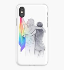 The Rainbow Flag: 'I would if I could… not yet, but soon.' iPhone Case