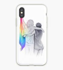 """Die Regenbogenflagge: """"Ich würde, wenn ich könnte ... noch nicht, aber bald."""" iPhone-Hülle & Cover"""