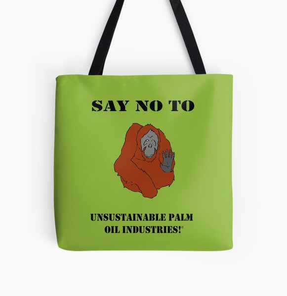Say No To Unsustainable All Over Print Tote Bag