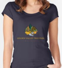 GVTP - Golden Valley Tree Park -T shirt -Yellow text Women's Fitted Scoop T-Shirt