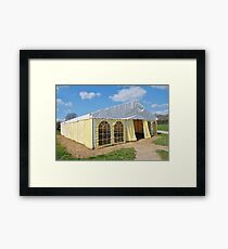 Stripey marquee Framed Print