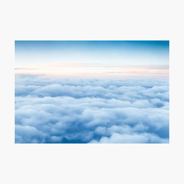 Clouds from an Airplane - Sunrise on the Horizon Photographic Print