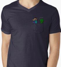 Little Pocket Creeper Men's V-Neck T-Shirt