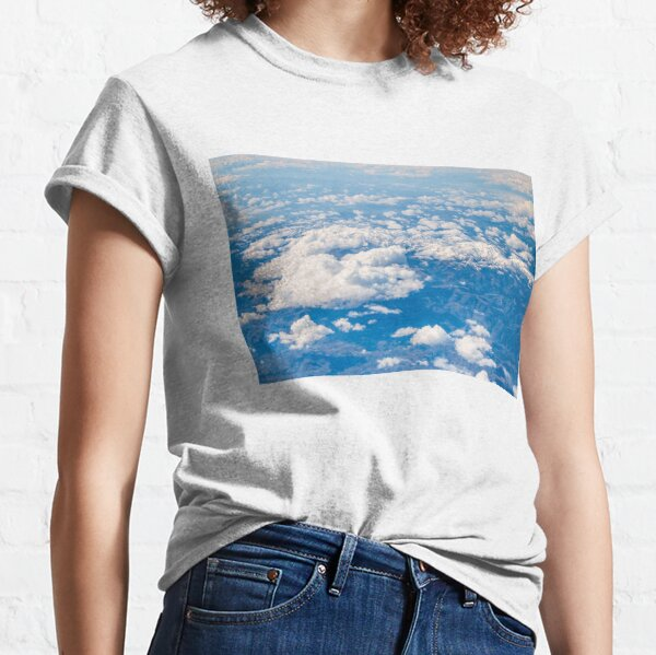 Flying Above Clouds - View on The Snowy Hills Classic T-Shirt