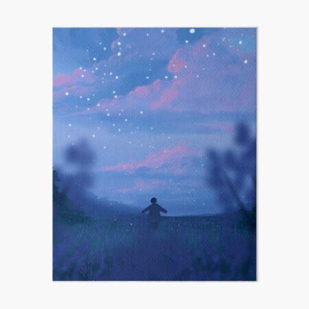 lavender fields and the bluest dawns Art Board Print