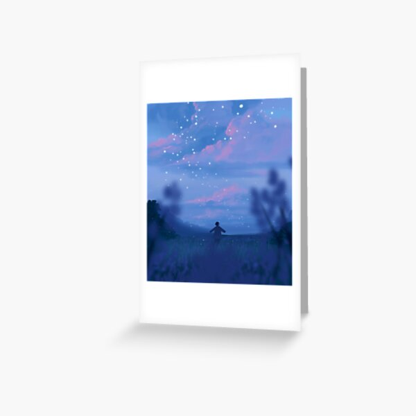 lavender fields and the bluest dawns Greeting Card
