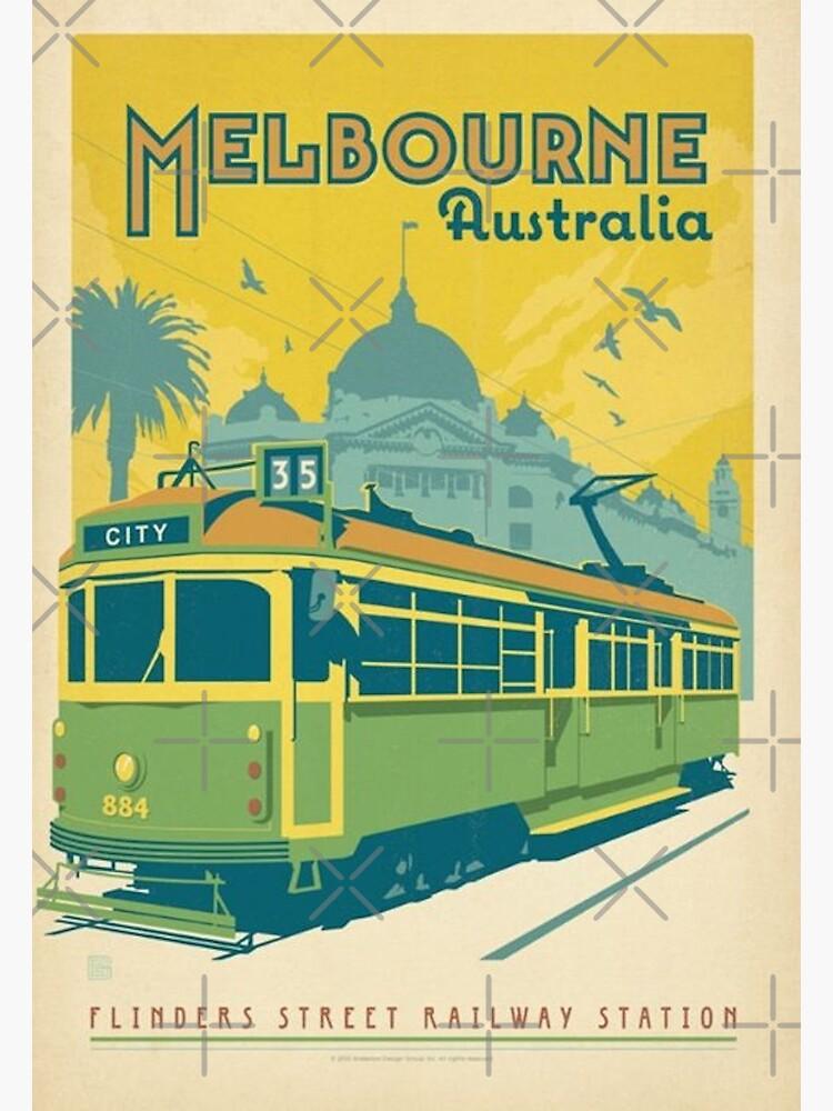 Vintage Melbourne Australia by nischaynamdev