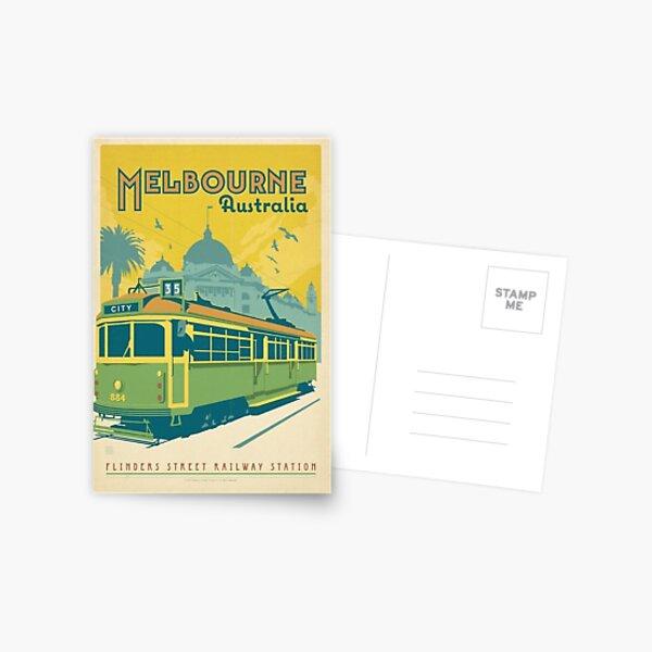 Vintage Melbourne Australia Postcard