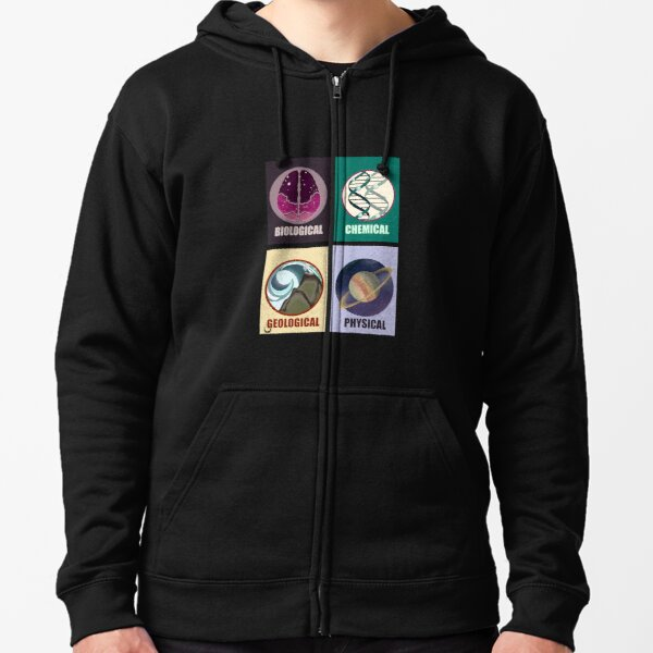 Science Fields Zipped Hoodie