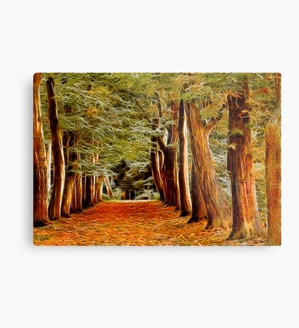 Fractalius Autumn Walkway Metal Print