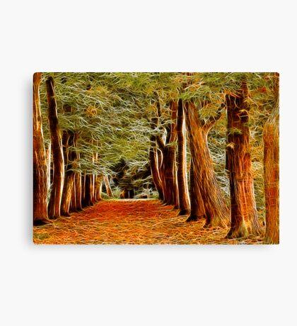 Fractalius Autumn Walkway Canvas Print