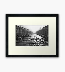 Bicycles on the Bridge Framed Print