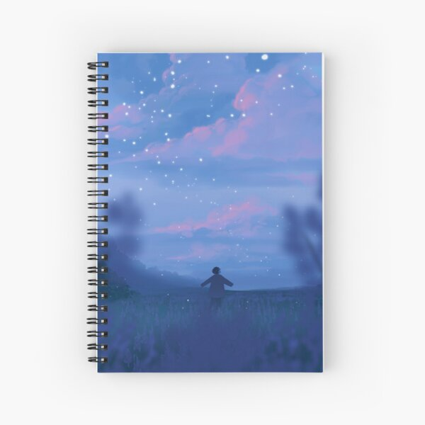 lavender fields and the bluest dawns Spiral Notebook