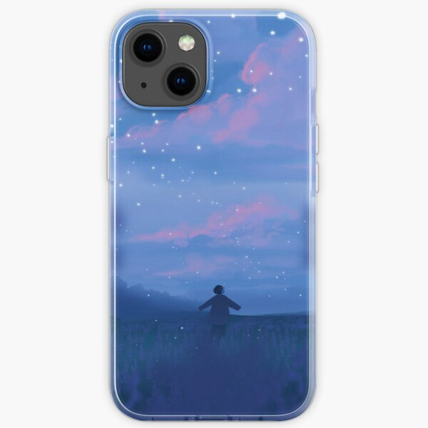 lavender fields and the bluest dawns iPhone Soft Case