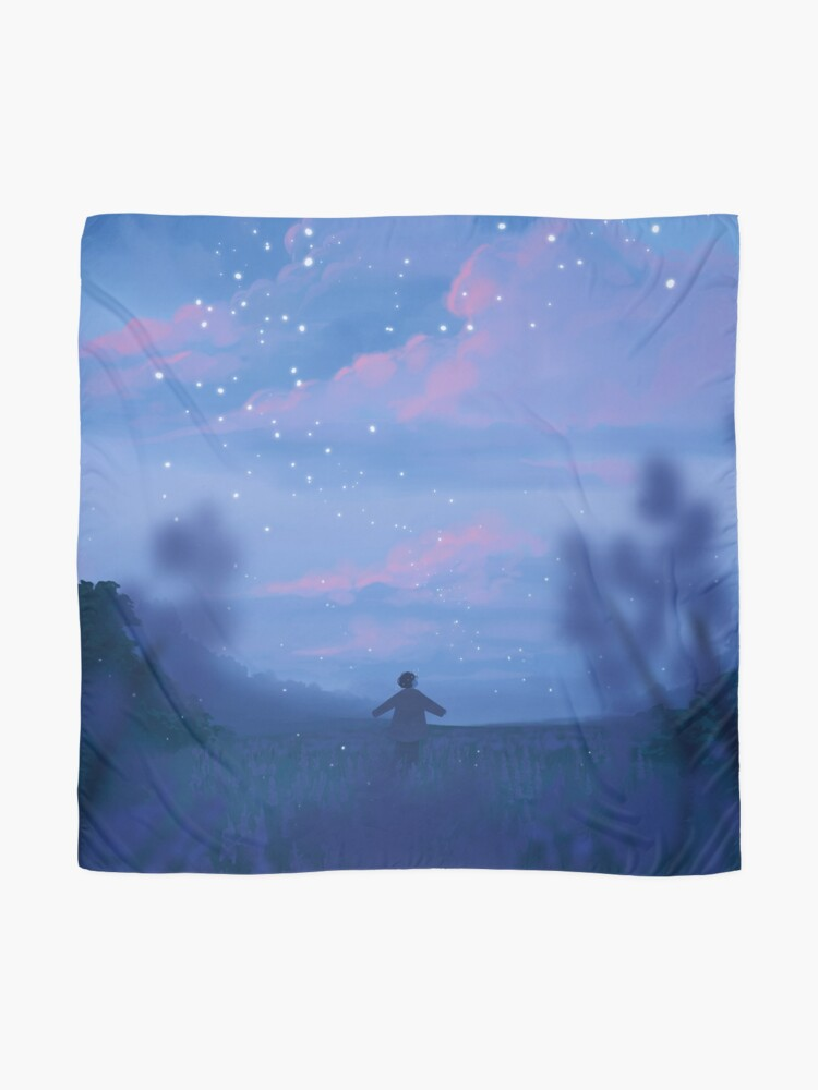 Alternate view of lavender fields and the bluest dawns Scarf