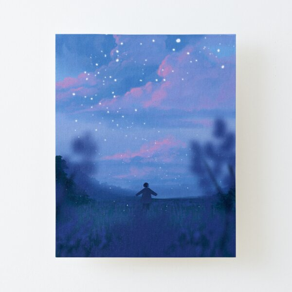 lavender fields and the bluest dawns Canvas Mounted Print