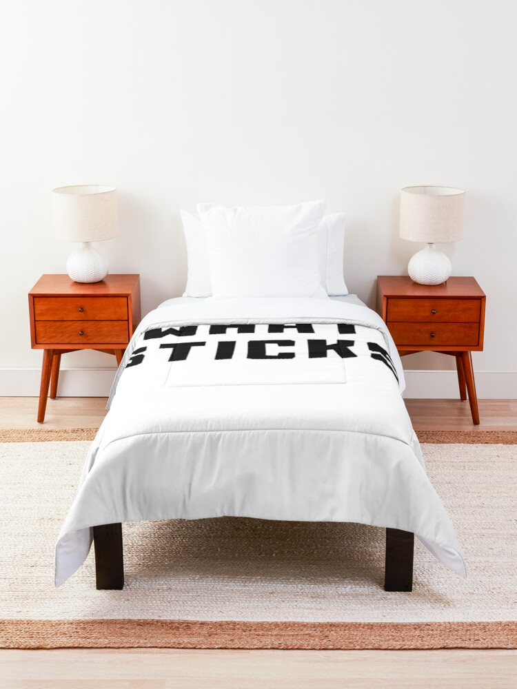 Alternate view of SEE WHAT STICKS Comforter