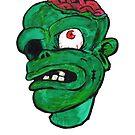 Halloween Green Zombie Brain by gaetax12