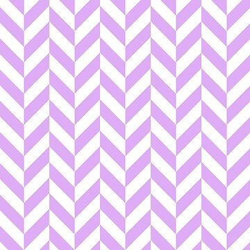 Lilac Offset Chevrons by ImageNugget
