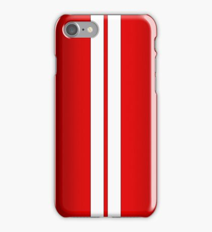 Red Car Stripes iPhone Case/Skin