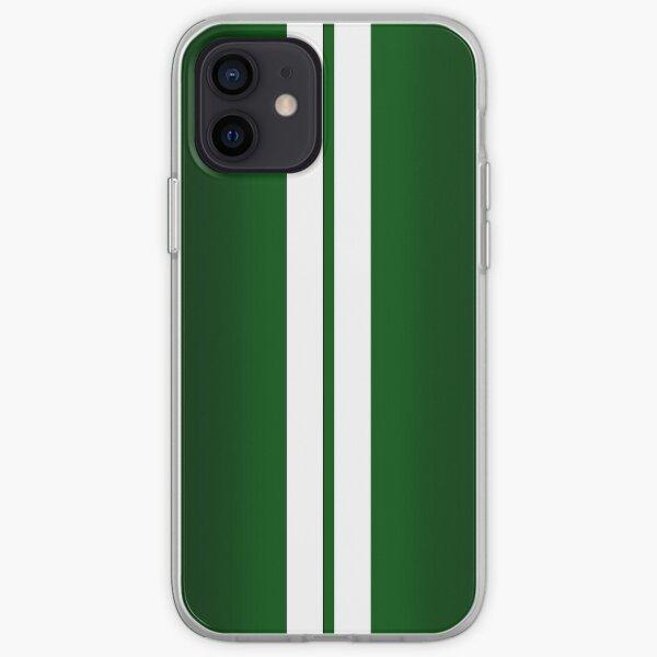 British Racing Green Car Stripes iPhone Soft Case