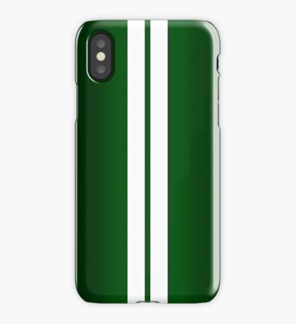 British Racing Green Car Stripes iPhone Case
