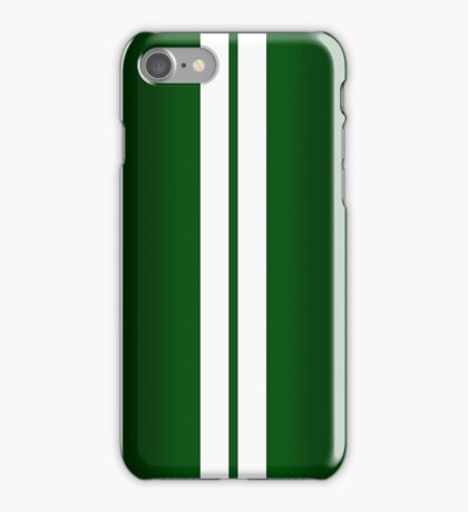 British Racing Green Car Stripes iPhone Case/Skin
