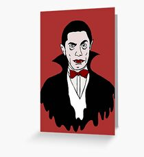 Dracula icon Greeting Card